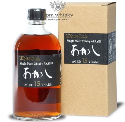 Akashi 15-letni White Oak Single Malt (Japonia-Honsiu) /58%/0,5l