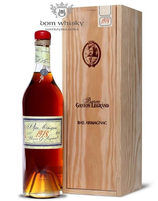 Armagnac Baron Gaston Legrand 1978 / 40% / 0,7l