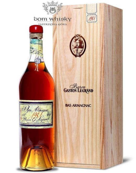 Armagnac Baron Gaston Legrand 1981 / 40% / 0,7l