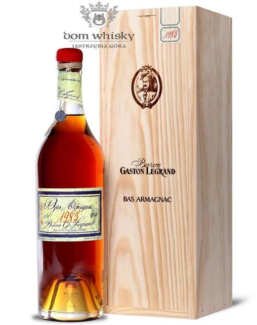 Armagnac Baron Gaston Legrand 1985 / 40% / 0,7l