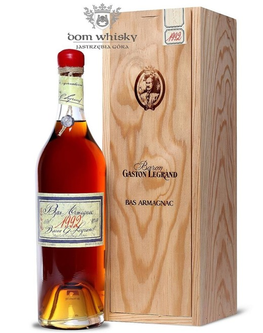 Armagnac Baron Gaston Legrand 1992 / 40% / 0,7l
