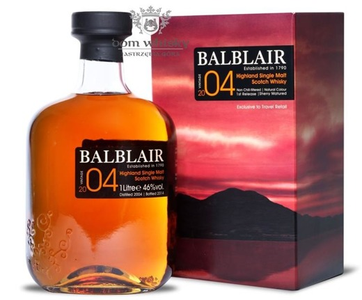 Balblair 2004 (Bottled 2014)1st Release,Sherry Matured 46% 1,0l