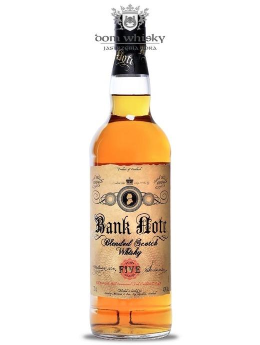 Bank Note Blended Scotch Whisky, 5-letni / 43% / 0,7l