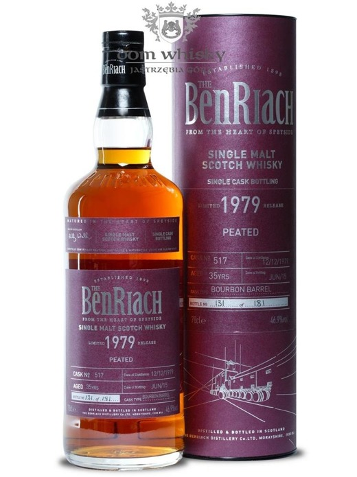 BenRiach 1979 Peated, 35-letni (Bourbon Barrel # 517) /46,9%/0,7
