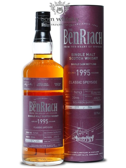 BenRiach 1995, 20-letni (Bourbon Barrel # 74743) / 58,9% / 0,7l