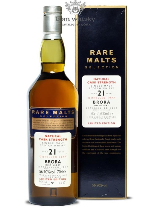 Brora 21-letnia (D.1977, B.1998) Rare Malts / 56,9% / 0,7l