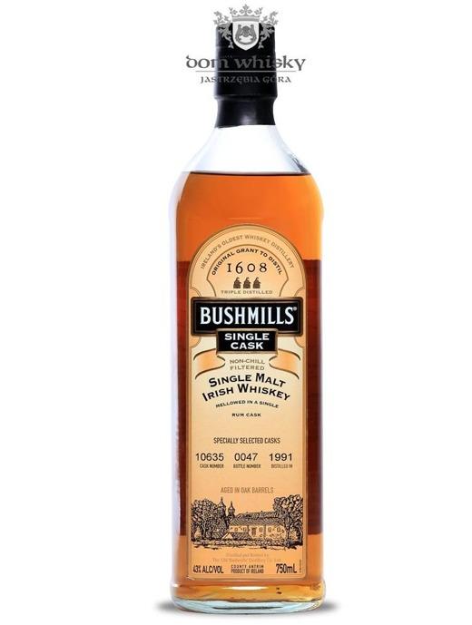 Bushmills Single Cask Rum Cask (D.1991) / 43% / 0,75l