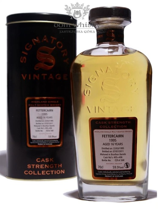 Fettercairn 16-letni (D.1995,B.2011)Signatory Vintage/59,9%/0,7l
