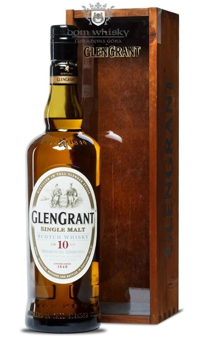 Glen Grant 10-letni (Wooden Box) / 40% / 0,7l