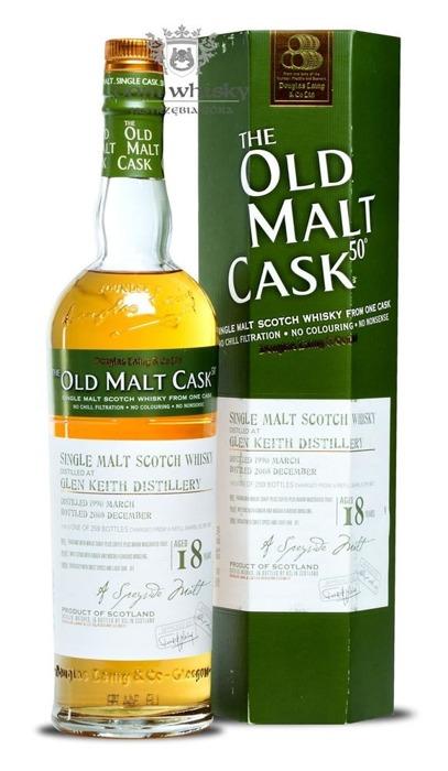 Glen Keith 18-letni (D.1990, B.2008) Old Malt Cask / 50% / 0,7l