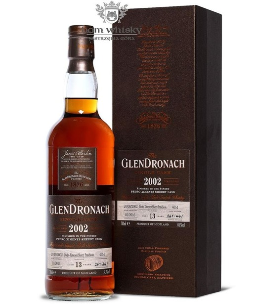 GlenDronach 13-letni (D.2002 B.2016)Single Cask #4651 54,8% 0,7l