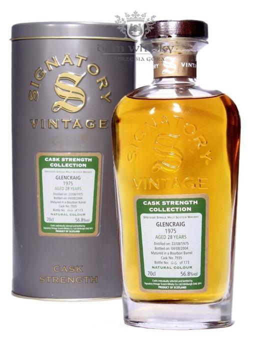 Glencraig 28-letni (D.1975,B.2004) Signatory Vintage/ 56,8% /0,7