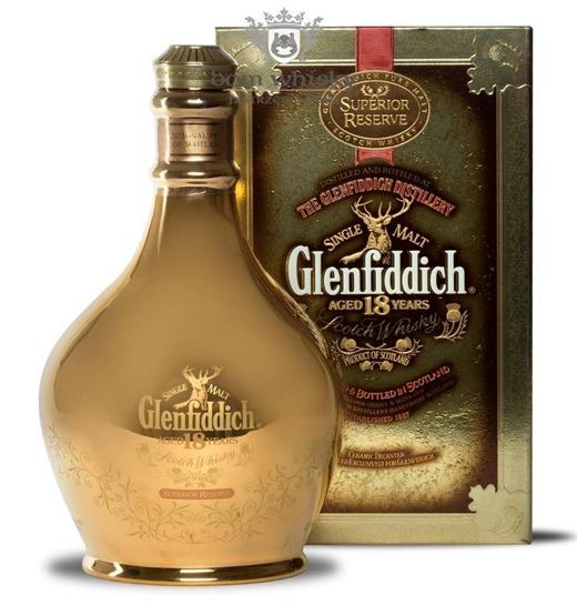 Glenfiddich 18-letni Superior Reserve, Gold Decanter/ 43%/ 0,7l