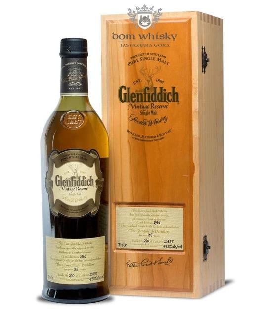 Glenfiddich 1965 Vintage Reserve, 35-letni (Cask10837)47,8% /0,7