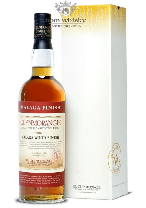 Glenmorangie 25-letni Malaga Wood Finish / 43% / 0,7l