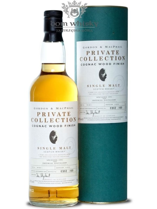 Imperial 1991 Cognac Wood Finish, G&M Private Collection/40%/0,7
