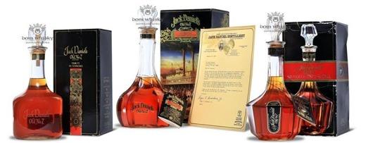 Jack Daniel's Bottle Set(Tribute,Riverboat,Silver Cornet) 3x1,75