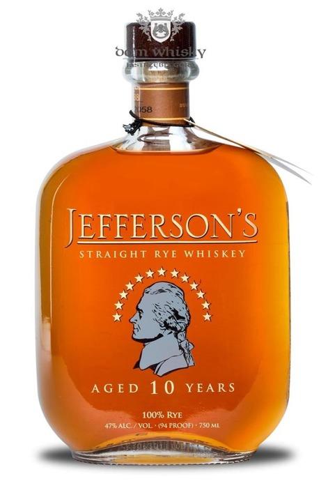 Jefferson's 10 letni Straight Rye Whiskey / 47% / 0,75l