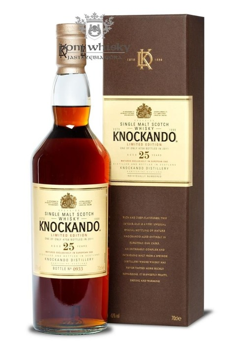 Knockando 25-letni (Bottled 2011) /43%/0,7l