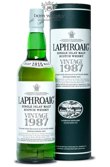 Laphroaig 1987 Vintage, 19-letni /53,4%/0,7l