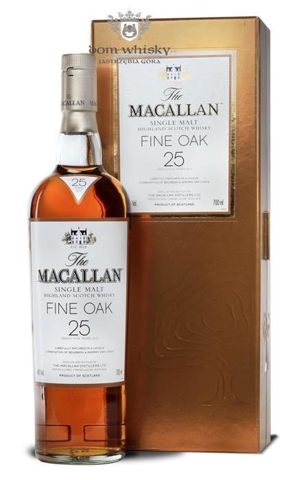 Macallan 25-letni Fine Oak (Bourbon & Sherry Casks) /43%/0,7l