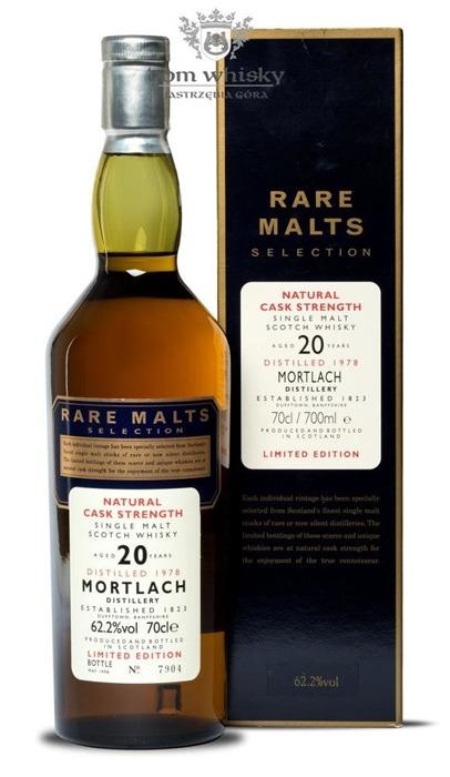 Mortlach 20-letni (D.1978, B.1998) Rare Malts / 62,2%/ 0,7l