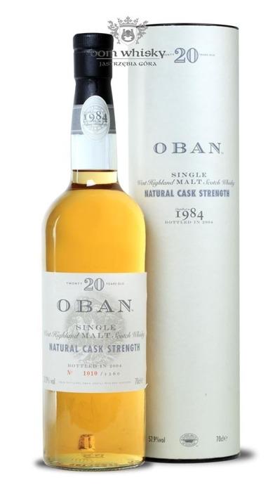 Oban 20-letni (D.1984, B.2004) Natural Cask Strength/ 57,9%/ 0,7