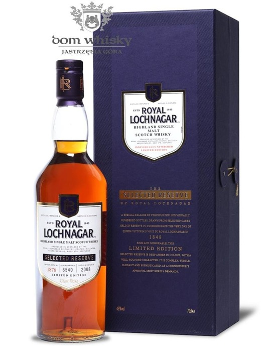 Royal Lochnagar Selected Reserve Limited Edition B.2008/43%/0,7l