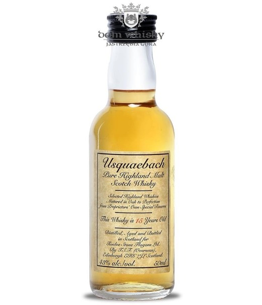 Usquaebach 15-letni Pure Malt Whisky / 43% / 0,05l