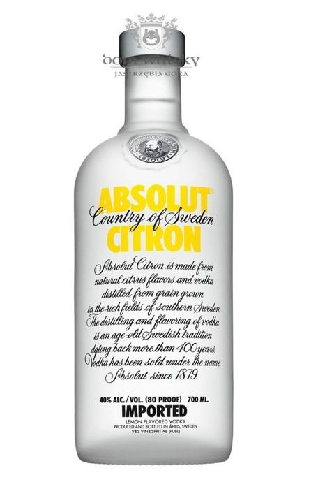 Wódka Absolut Citron / 40% / 0,7l