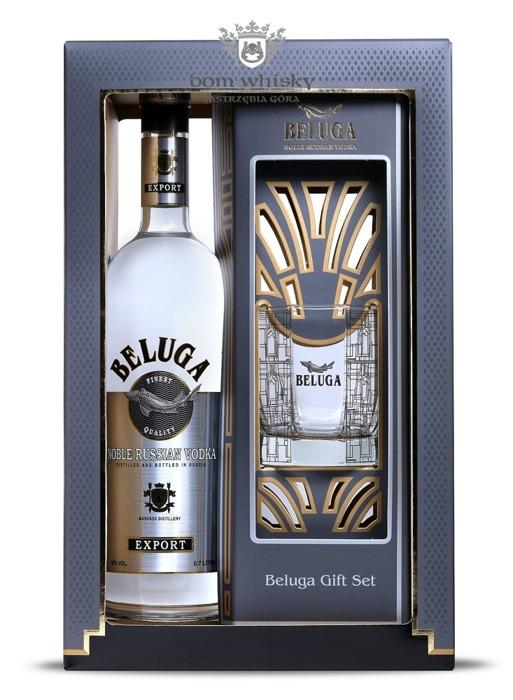 Wódka Beluga Noble (zestaw ze szklanką) / 40% / 0,7l